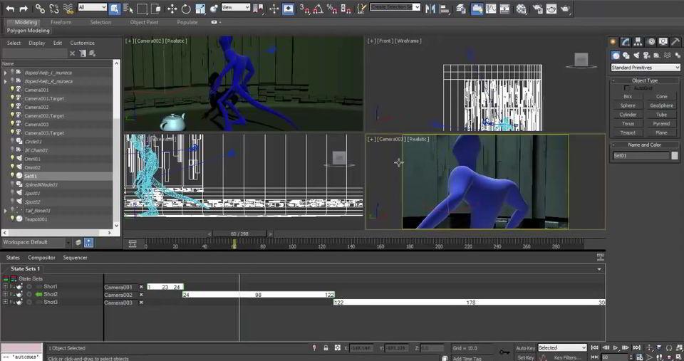 توالی انیمیشن دوربین تری دی مکسCamera sequencer 3ds max 2018
