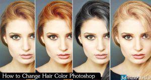 آموزش تغییر رنگ مو فتوشاپ Change Hair Color Photoshop cc