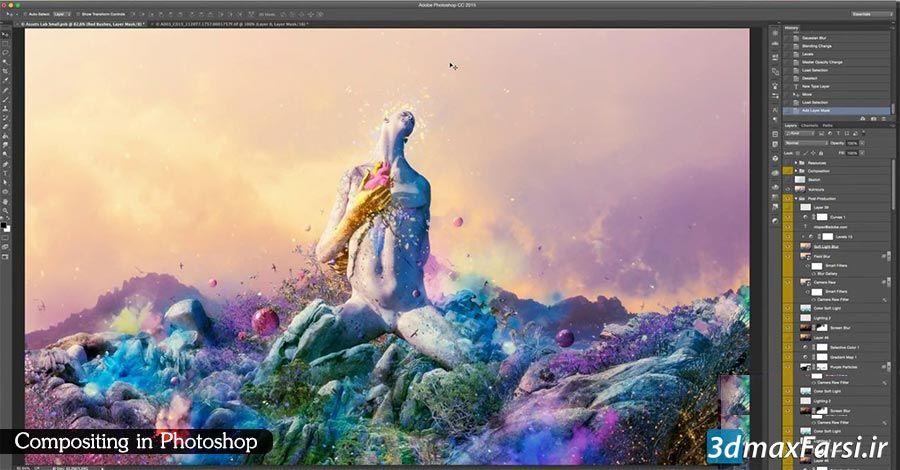 آموزش کامپوزیتینگ عکس ها در فتوشاپ Compositing Photoshop