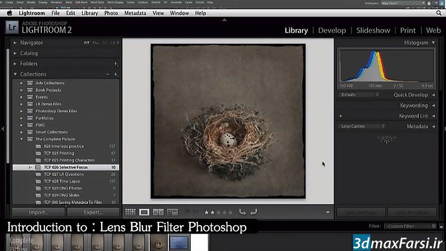 فیلتر بلور فتوشاپ ایجاد عمق میدان Lens Blur Filter Photoshop