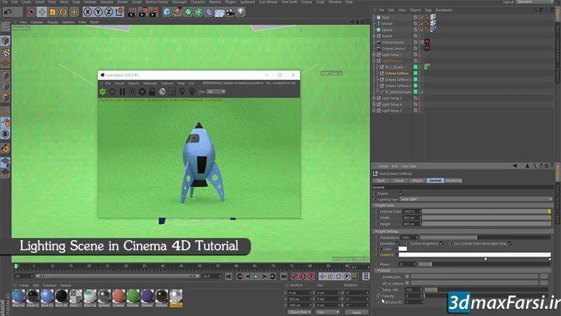 5 روش مهم برای نورپردازی صحنه های سینما فوردی Lighting Cinema 4D