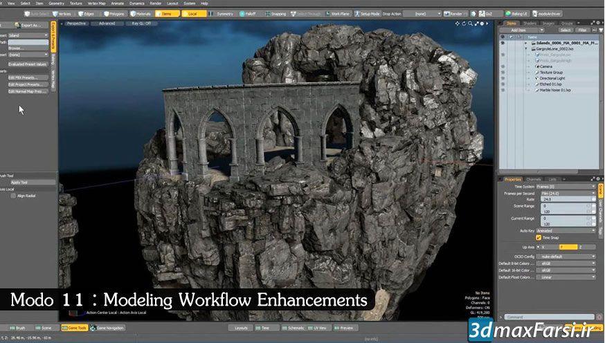 معرفی آخرین ویژگی های نرم افزار مودو Modo 11 : مدلسازی نورپردازی رندرینگ