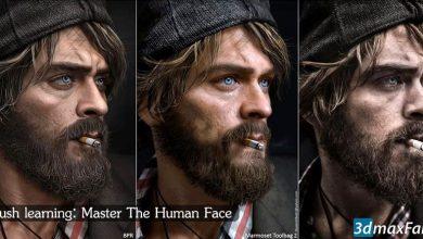 Photo of صفر تا صد آموزش حجاری صورت زیبراش Zbrush sculpting Human Face