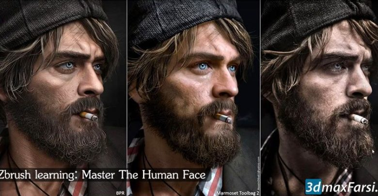 آموزش کامل حجاری صورت زیبراش Zbrush sculpting Human Face