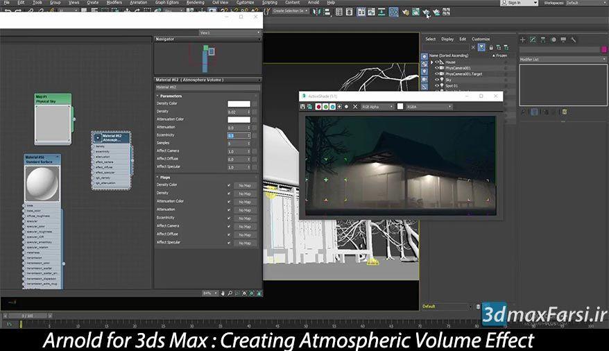 Photo of آموزش پلاگین آرنولد برای تری دی مکس Arnold 3ds max volume effect