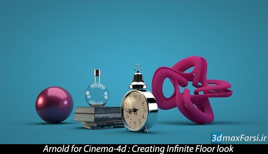 فیلم آموزش پلاگین رندر آرنولد برای سینمافوردی Arnold for Cinema 4d