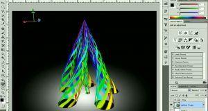 آموزش سه بعدی کردن اشکال دو بعدی فتوشاپ Adobe photoshop repousse
