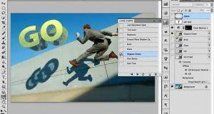 آموزش نوشتن متن سه بعدی اعمال افکت سه بعدی Photoshop 3D text