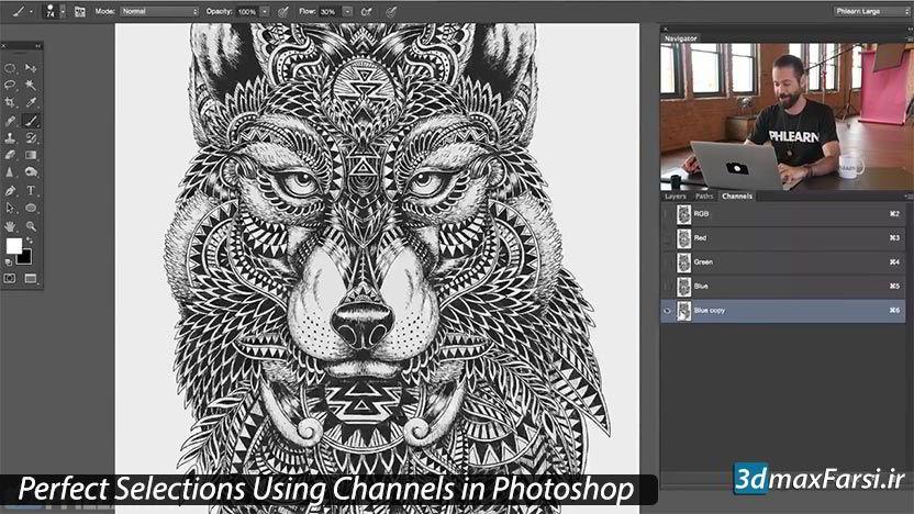 آموزش channels در فتوشاپ | تفکیک رنگ به کمک پالت Photoshop Channels