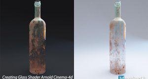 آموزش ساخت متریال شیشه لکه دار و کثیف آرنولد برای Cinema 4d