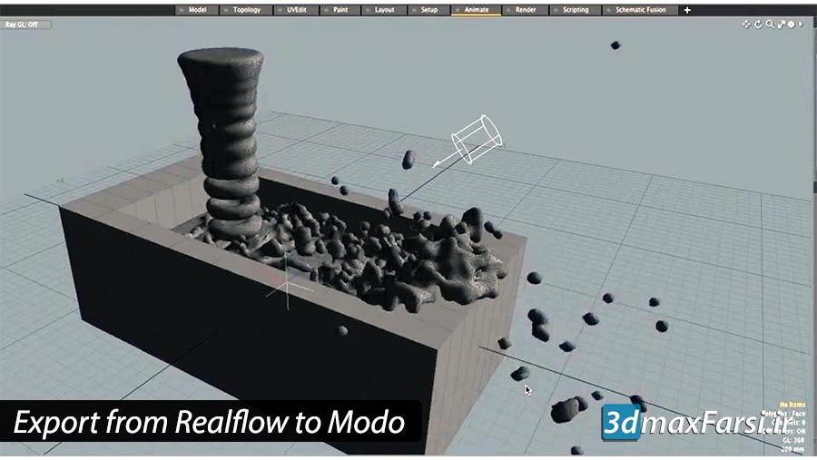 Photo of آموزش خروجی گرفتن Realflow Mesh به نرم افزار Modo 3D VFX