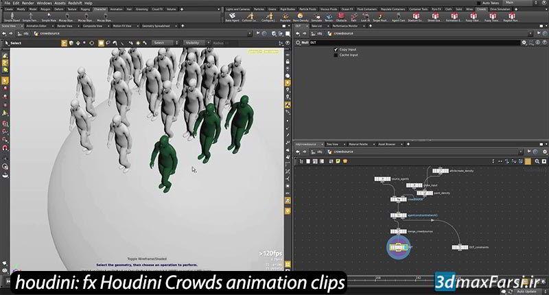 آموزش شبیه سازی جمعیت کاراکتر Crowds Feature Film Houdini