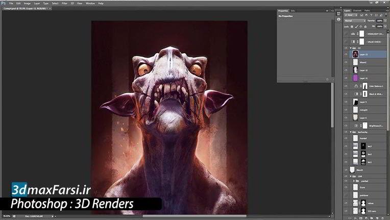 آموزش رندر سه بعدی فتوشاپ 3D Renders Photoshop