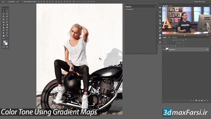 آموزش استفاده از Gradient Maps برای Color Tone در نرم افزار فتوشاپ