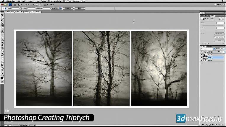آموزش میکس وچسباندن تصاویر در فتوشاپ Photoshop Creating Triptych