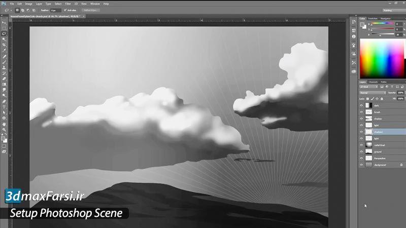 آموزش تنظیمات اولیه نرم افزار فتوشاپ Setup Photoshop Scene | پیکربندی فضای کار