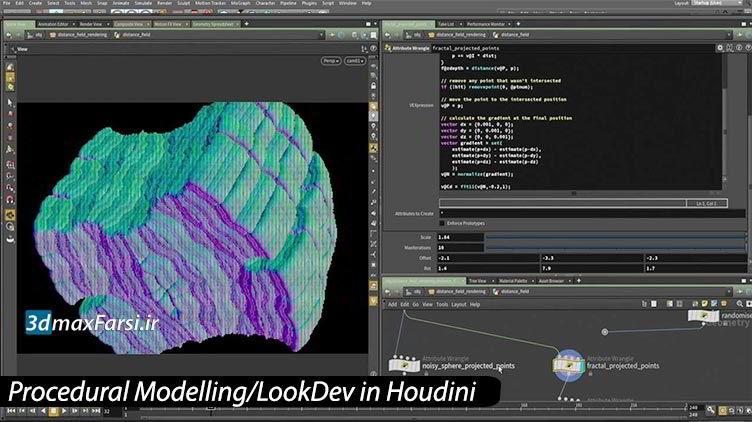 فیلم آموزش مدلسازی رویه ای هودینی Houdini Procedural Modelling