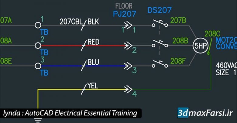 آموزش نرمافزار اتوکد الکتریکال AutoCAD Electrical دانلود رایگان مقدماتی تا پیشرفته