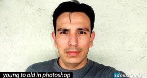 آموزش پير كردن چهره فتوشاپ ایجاد چین و چروک در فتوشاپ Photoshop cc