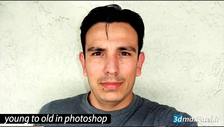آموزش پير كردن چهره بافتوشاپ | ایجاد چین و چروک درفتوشاپ Photoshop cc
