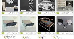 دانلود پکیج کامل آبجکت های سه بعدی 3ddd profi 3d models full collection