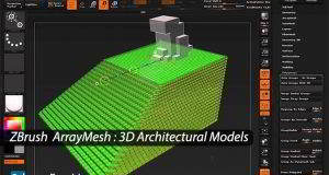 آموزش تصویریزیبراش در معماری ZBrush ArrayMesh 3D Architectural Models