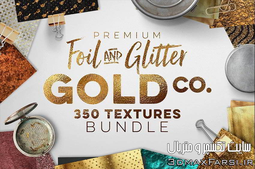 تکسچر ورق طلا تکسچر فویل طلایی با کیفیت بالا Gold Textures