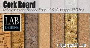 دانلود تکسچرچوب ومتریال چوبنماCreativemarket – 12 Cork Board Background Textures