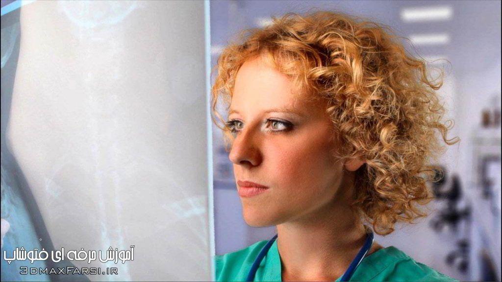 آموزش حرفه ای فتوشاپ مو Photoshop Feather and Density hair