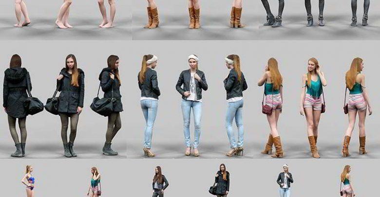 دانلود مدل سه بعدی خانم برای تری دی مکس مایا Realistic Female Characters