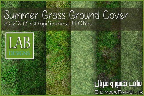دانلود پترنچمنبرای فتوشاپSeamless Summer Grass Ground Cover