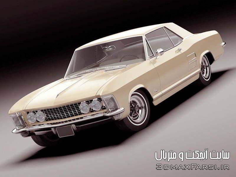 دانلود آبجکت ماشین کلاسیک سه بعدی برای تری دی مکس TurboSquid Buick Riviera 1963