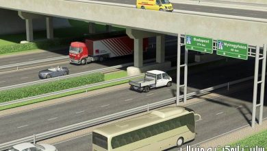 Photo of آبجکت آماده اتوبان (پل خیابان پیاده رو سه بعدی) 3D Highway Elements Pack