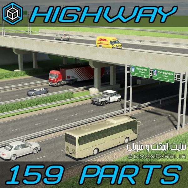 Turbosquid 3D Highway Elements Pack
