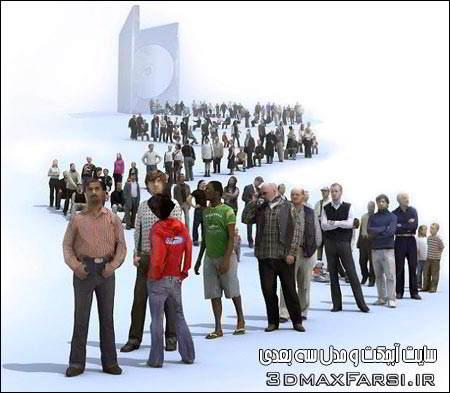 دانلود آبجکت کم حجم انسان برای تری دی مکس Lowpolygon3d People Models