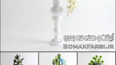 دانلود آبجکت گلدان 3D Models Floor Vases Flower Collection from 3D66