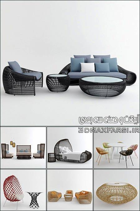 دانلود آبجکت میز و صندلی 3D Models Outdoor Furniture Collection