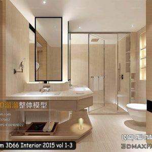 دانلود صحنه آماده حمام سرویس تری دی مکس + ویری 3D66 Interior