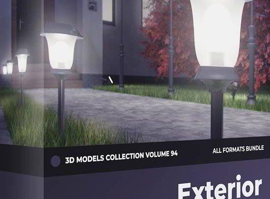 دانلود آبجکت لامپ برای مکس | آبجکت چراغ دیواری : تری دی مکس ویری