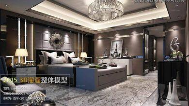 دانلود 90 صحنه اتاق خواب مدرن Modern Bedroom Style 3D66 Interior 2015 Vol 1 - 9