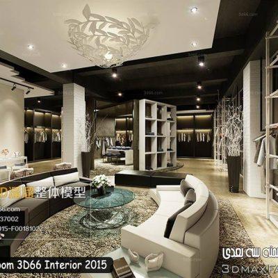 مدل سه بعدی طرح غرفه سالن نمایشگاه Showroom 3D66 Interior 2015