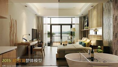 دانلود صحنه داخلی سویت هتل Suites Hotel 3D66 Interior 2015