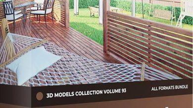 دانلود آبجکت محوطه سازی فضای سبز | باغ گل مبلمان+ محوطه سازی