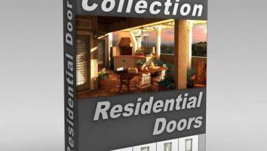 Photo of دانلود رایگان آبجکتدرب ورودیمکس 3d-model doors collection