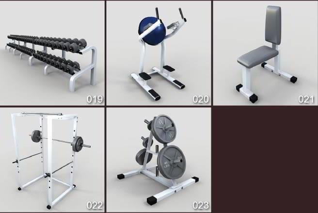 دانلود آبجکت وسایل لوازم ورزشی تری دی مکس
