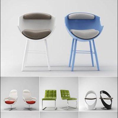 دانلود آبجکت صندلی تری دی مکس 3D Models Chair Collection from 3D66