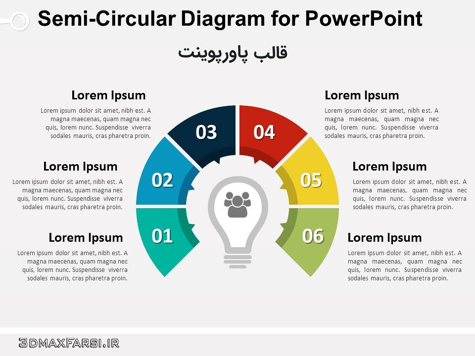 دانلود رایگان پاور پوینت (اسلاید) قالب نمودار پازلی حرفه ای puzzle diagram powerpoint template