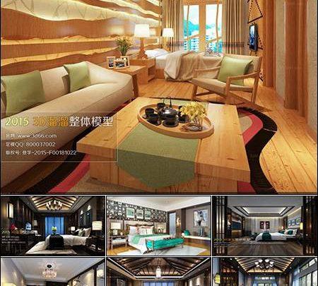 دانلود صحنه سه بعدی اتاق خواب 3D66 Southeast Asia Bedroom Style 3D66