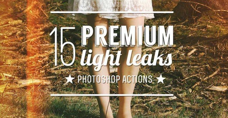 اکشن فتوشاپ نشت نور حرفه ای15 Premium Light Leak Actions