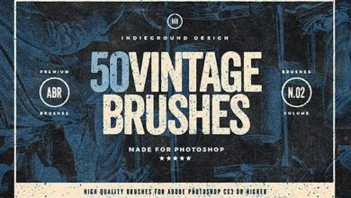 50 vintage brushes set براش فتوشاپ استایل قدیمی کلاسیک